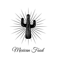 Cactus cartoon and black and white sketch style vector