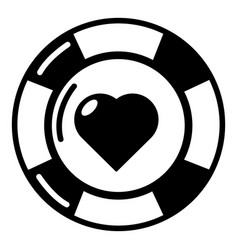 casino chips icon simple black style vector image