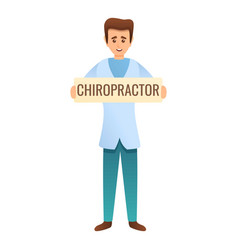chiropractor clinic icon cartoon style vector image