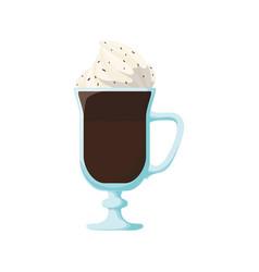chocolate milkshake dessert vector image