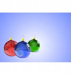 Christmas tree ornaments vector