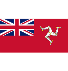 civil ensign isle man vector image
