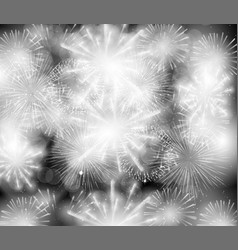 colorful shiny spectacular fireworks and holidays vector image