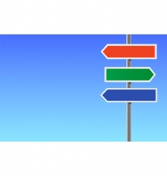 Colour blank directional sign vector