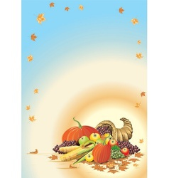 composition for Thanksgiving Halloween invitation vector image