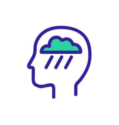 Consciousness icon isolated contour symbol vector