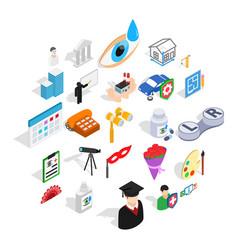 creative idea icons set isometric style vector image
