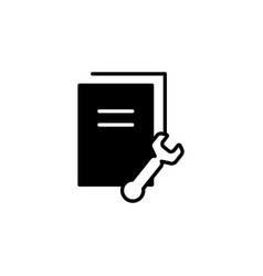 document settings icon black vector image