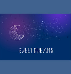 Dreamy magical sweet dreams background vector