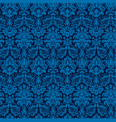 Elegant blue seamless damask background vector