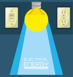 Flat bulb concept electrical energy vector