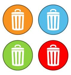 Garbage button set vector