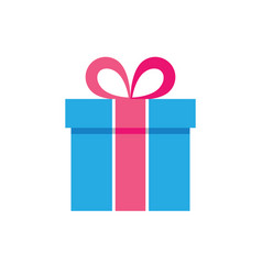 gift box icon - flat vector image