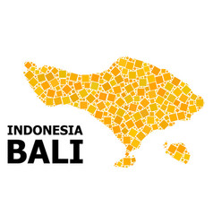 Golden rotated square pattern map bali island vector