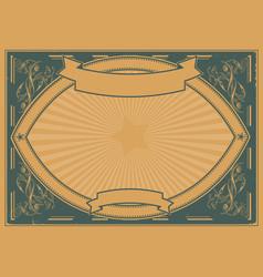 Grunge horizontal poster background vector