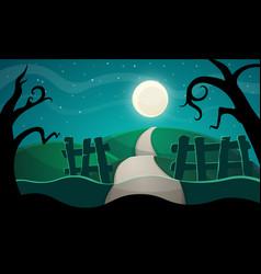 Halloween star road tree vector