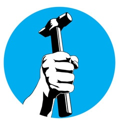 hammer hand vector image