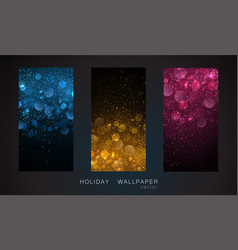 holiday abstract shiny color gold design element vector image