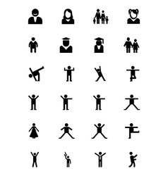 Human icons 6 vector