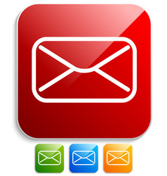 icons with email envelope or letter symbol eps10 vector image