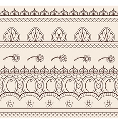 Indian henna ornament seamless vector