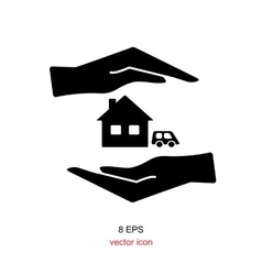 Insurance hand icon vector image