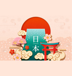 Japan characters on 2019 japanese new year card vector