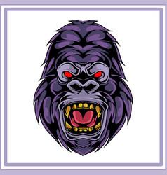 kong mascot logo design vector image