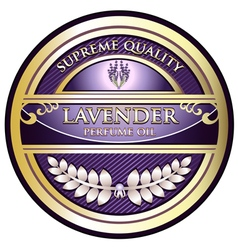 Lavender Perfume Oil Label vector image