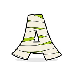 Letter A Mummy Typography icon in bandages vector image