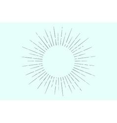 linear drawing light rays sunburst vector image