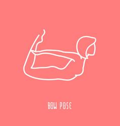 linear yoga icon vector image