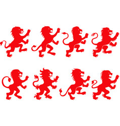 lion rampant vector image