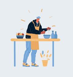 man cookin vector image