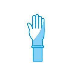 Medicine gloves design vector