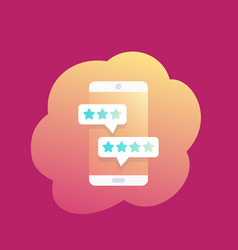 mobile reviews smartphone icon vector image