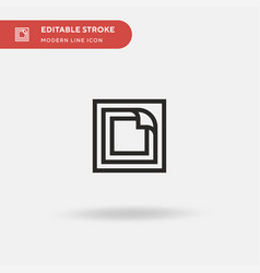Nicotine patch simple icon vector