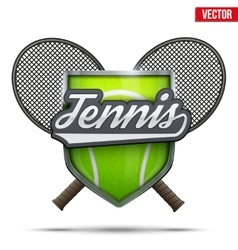 Premium symbol of Tennis vector image