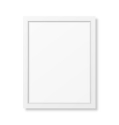 Realistic white frame A4 vector