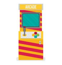 retro arcade machine flat style vector image
