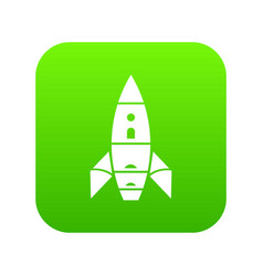 rocket galaxy icon green vector image
