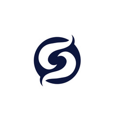 s logo and symbol s vector image