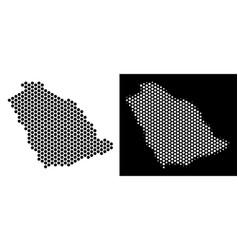 Saudi arabia map hex-tile abstraction vector