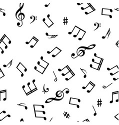 seamless abstract background with music symbols vector image