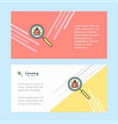 Search bug abstract corporate business banner vector