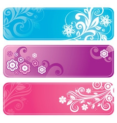 set of floral banners vector image