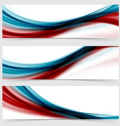 Smooth swoosh header footer web abstract vector image