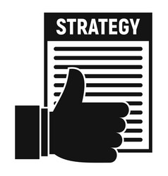 strategy plan icon simple style vector image