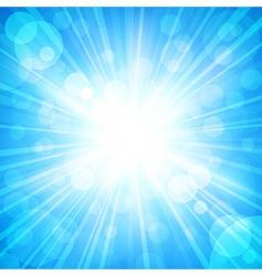 Sun sparkled vector