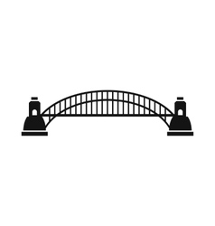 Sydney Harbour Bridge icon simple style vector image
